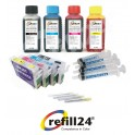 Cartuchos Recargables Compatible para Epson 603/603XL + Tinta 400ml para impresoras XP-2100, XP-2105, XP-3100, XP-3105, XP-3150, XP-4100, XP-4105, WF-2810DWF, WF-2830DWF, WF-2835DWF, WF-2850DWF, WF-2853DWF