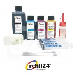 Kit de Recarga para Cartuchos de Tinta Brother LC3211, LC3213, LC 3217, LC3219 Negro y Color. Incluye reseteador y Accesorios + 550 ML de Tinta