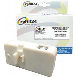 Reseteador de Chip con conexión USB para Cartuchos LC-3233, LC-3235, LC-3237, LC-3239 Negro, Cyan, Magenta, Amarillo. para 60 usos.